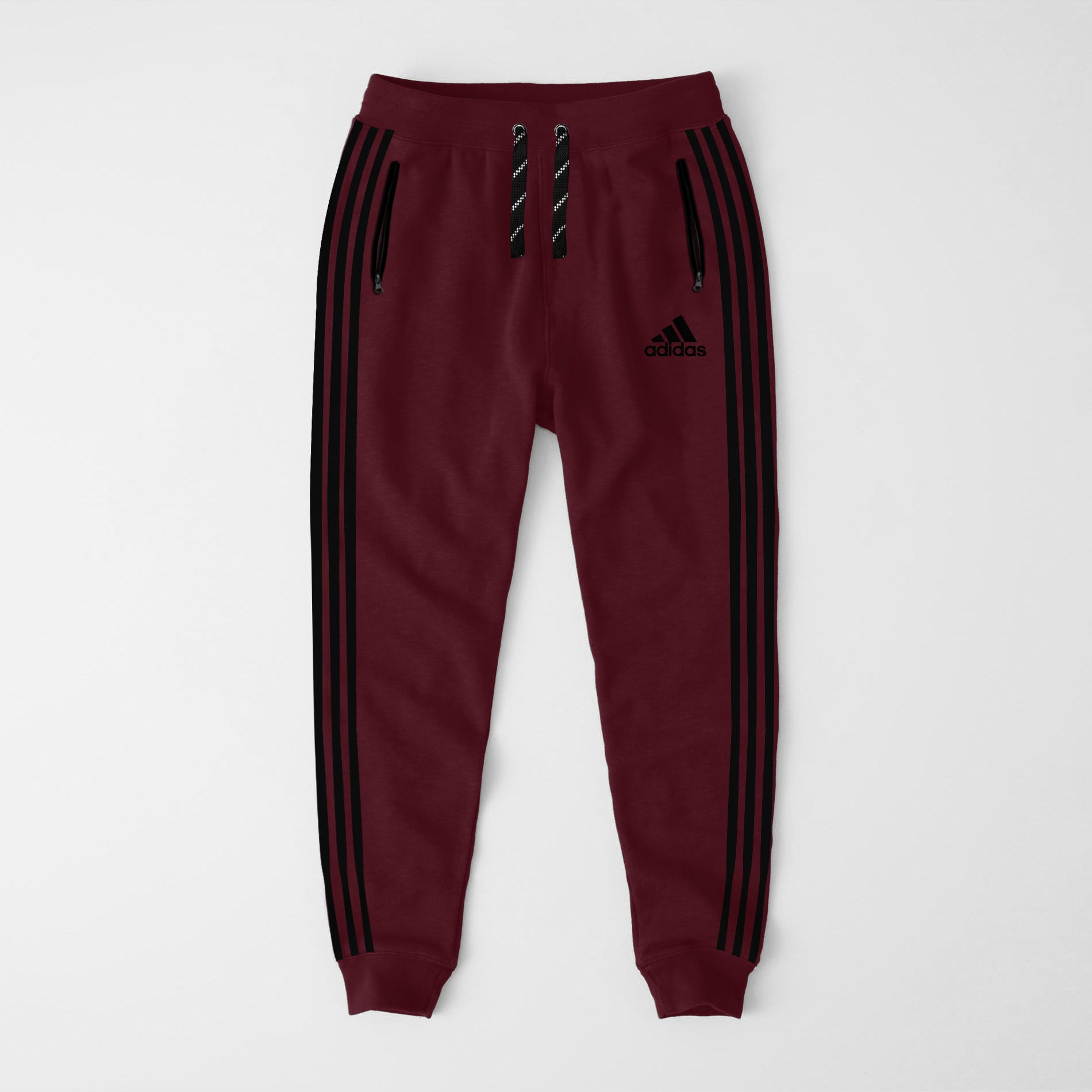 Adidas Single Jersey Slim Fit Jogger Trouser For Men-Light Burgundy-NA8245