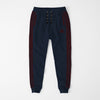 Adidas Single Jersey Slim Fit Jogger Trouser For Men-Light Navy Melange With Burgundy Stripes-NA8260