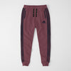 Adidas Single Jersey Slim Fit Jogger Trouser For Men-Pale Pink With Dark Navy Stripes-NA8249