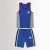 brandsego - Adidas Single Jersey Sport Suit For Kids-Blue & Grey-NA9556