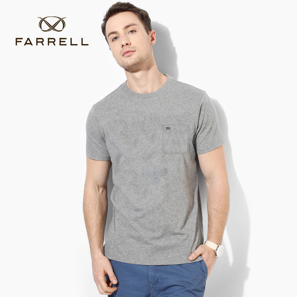 Farrell T Shirt Pocket Style For Men Cut Label-Gray-BE2569