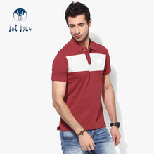 Fat Face Polo For Men Cut Label-Red with White Stripe-BE2563