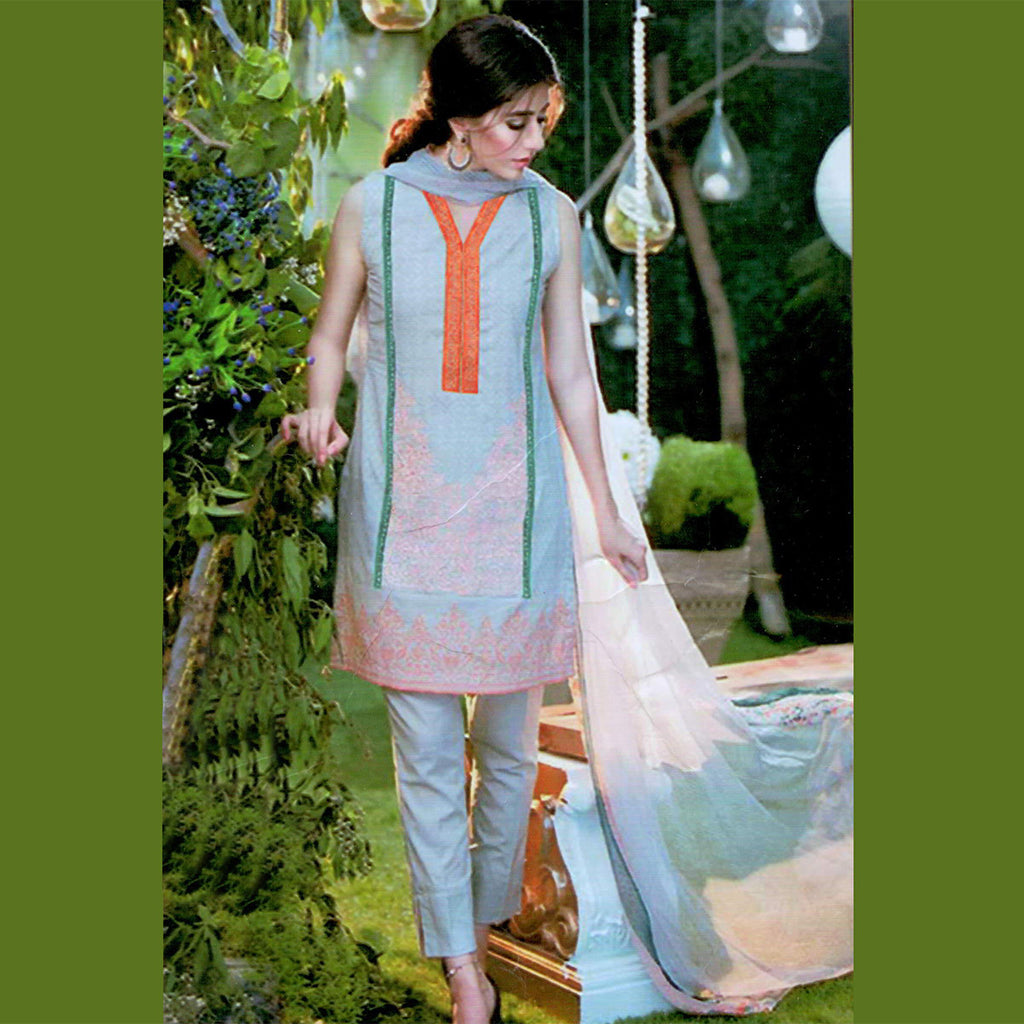"Ladie's ""Alkaram"" 3 Piece Unstitched Suit-GLA23"