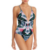 All Over Printed Stylish Swimsuit For Women-Green-NA5447