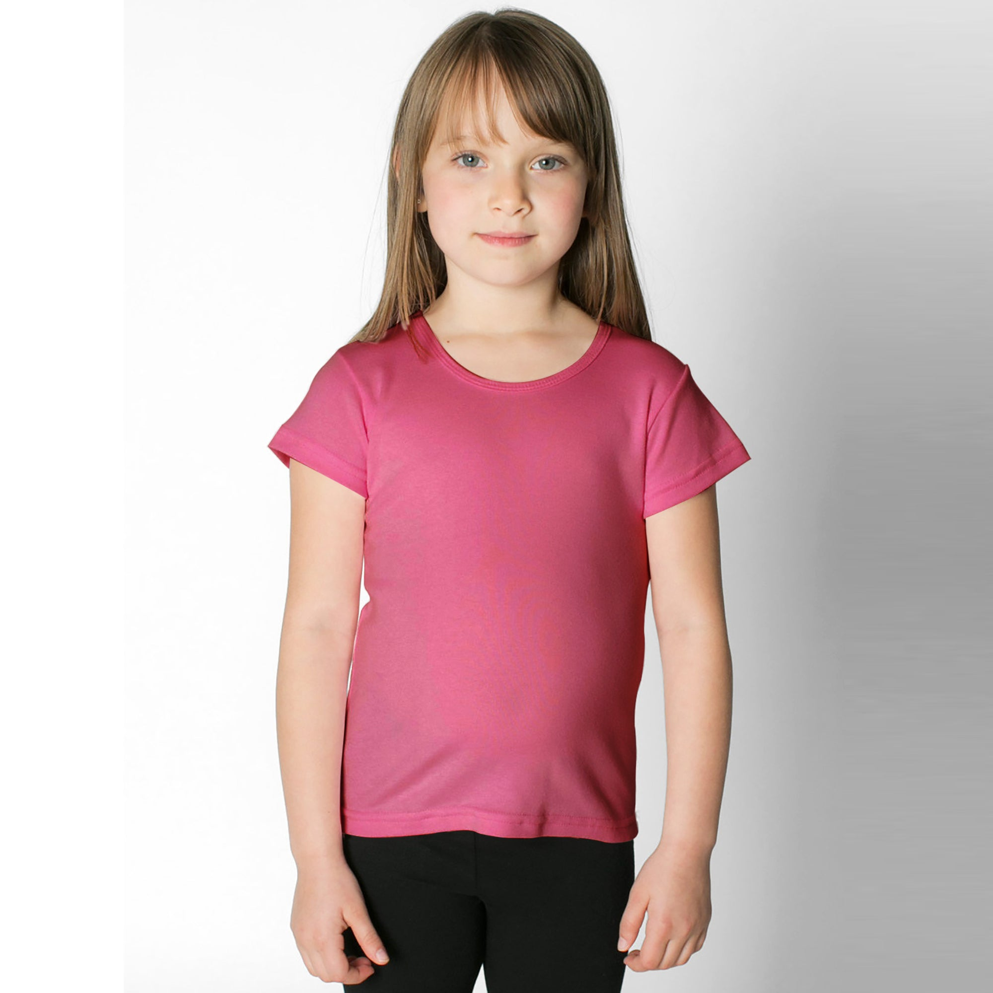 Curious Soul Crew Neck Single Jersey Tee Shirt For Kids-Pink-SP2840