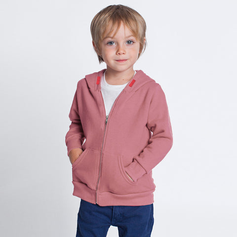 "Kid's  "" River Island "" Zipper Terry Fleece Hoodie -Light Carrot-BE303"