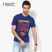 Next Crew Neck T Shirt For Men Cut Label-Dark Blue with Printing-BE2578