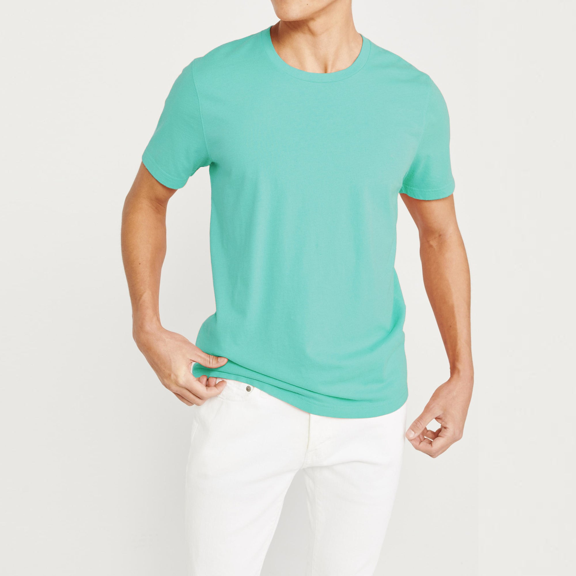 Architect Crew Neck Half Sleeve Tee Shirt For Men-Sea Green-NA8263