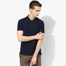B Quality M&S Polo Shirt For Men-Light Navy-BE3089