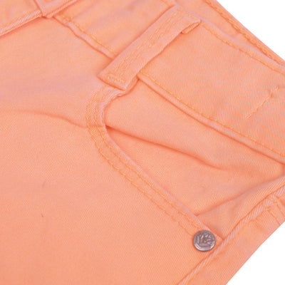 BERMUDA Denim Short For Girls-Salmon-BE7108