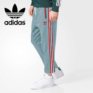 Adidas Cotton Trouser For Men-Bond Blue With Red Dark Navy & White Stripe-BE3232