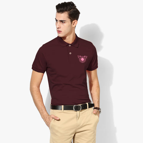 Fat Face Polo Shirt For Men-Dark Burgundi-BE2021