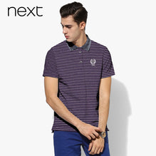 Next Polo For Men Cut Label-Burgundy with White Stripe-BE2726
