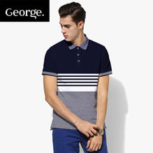 George Polo Shirt For Men Cut Label-Dark Navy & Blue Melange-BE2543