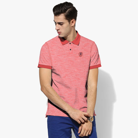 North Coast Polo For Men Cut Label-Red Melange-BE2307
