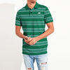 Banana Republic Short Sleeve P.Q Polo Shirt For Men-Green & White Stripes-NA7983