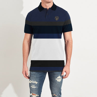 brandsego - Banana Republic Short Sleeve P.Q Polo Shirt For Men-Multi Stripes Stripe-NA7982