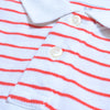 brandsego - Banana Republic Short Sleeve P.Q Polo Shirt For Men-Red & White Striper-NA8117
