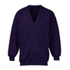 Banner Full Sleeve Y Neck Sweat Shirt Cardigan-Purple-NA10412