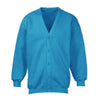 Banner Full Sleeve Y Neck Sweat Shirt Cardigan-Sky Blue-NA10408