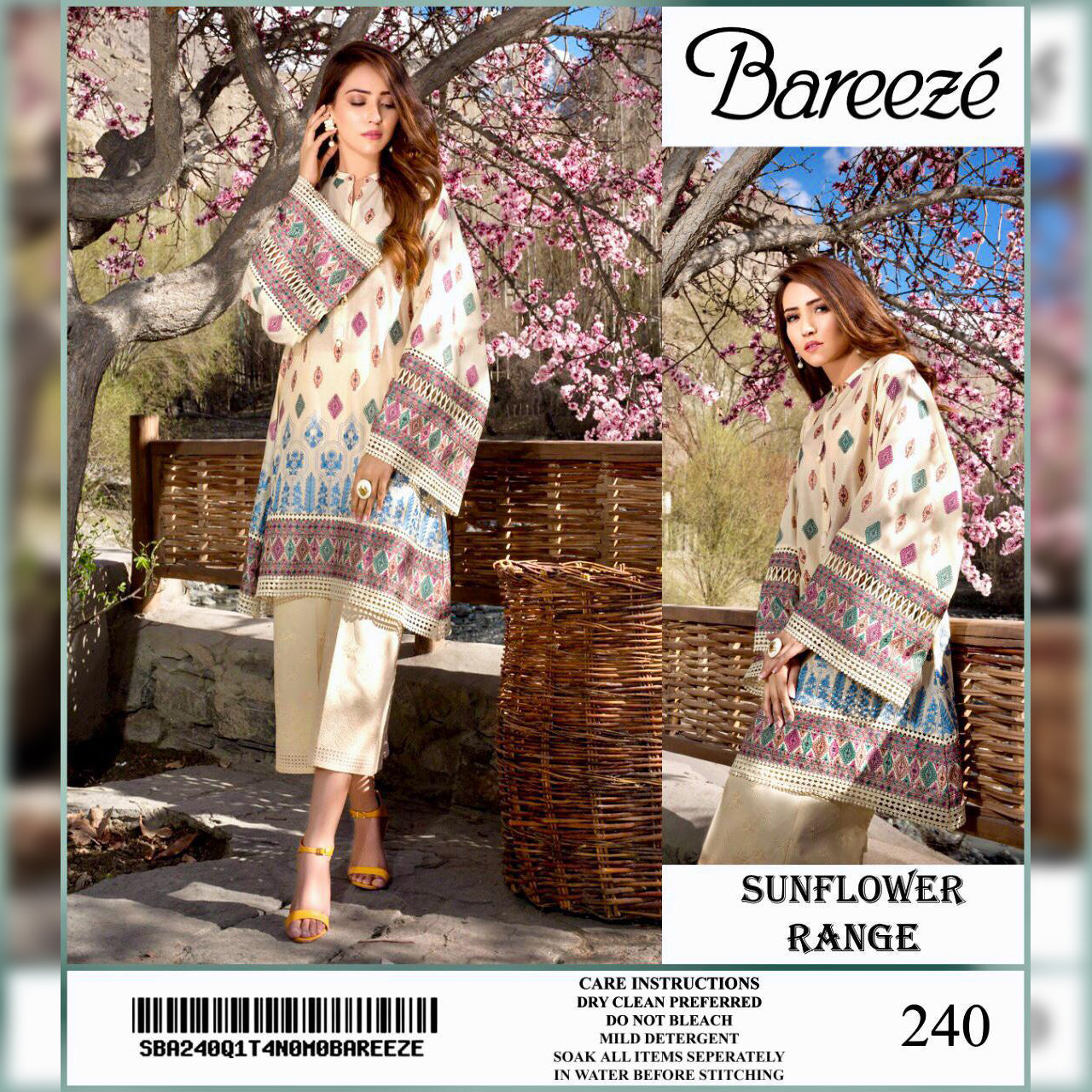 Bareeze Lawn Collection 2 Piece Un-stitch Suit For Ladies-NA8912