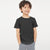 Basic Crew Neck Single Jersey Tee Shirt For Kids-Charcoal Melange-NA11579
