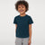 Basic Crew Neck Single Jersey Tee Shirt For Kids-Cyan Blue Melange-NA11577