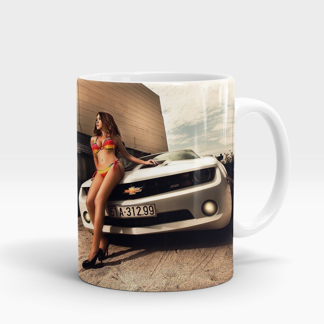 Beauty & Chevrolet Camaro Printed Mug-NA5705