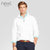 Next 1/4 Zipper Terry Fleece Mock-neck For Men-White-NA90