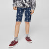 Bershka Falalen Cotton Short For Boys-Light Navy & All Over Printed-NA5123