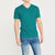 brandsego - Beverly Hills V Neck Half Sleeve Tee Shirt For Men-Sea Green Melange-NA9014