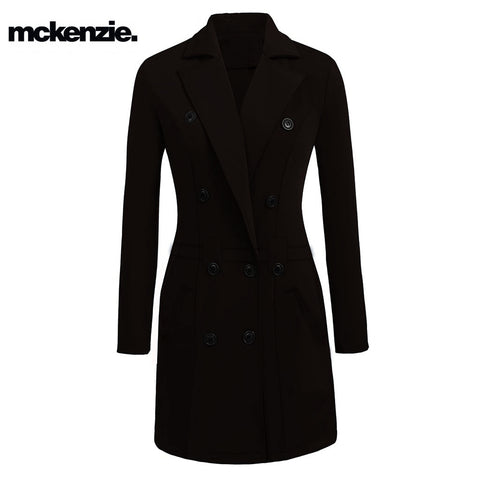McKenzie Stylish Long Trench Coat For Ladies-Chocolate-BE3806