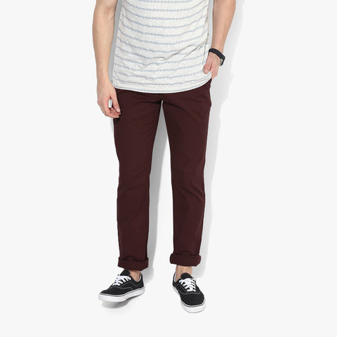 "Men's ""Zara Man"" Slim Fit Strech Cotton Denim Maroon-ND33"