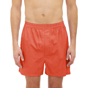 Bob Barker Cotton Boxer Short For Men-Orange-NA5888