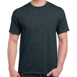 Bon Courage- Crew Neck T Shirt For Men-Dark Grey Malange-BA00030