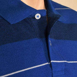 Born In Milano P.Q Polo Shirt For Men-Royal Blue With Stripes-NA980