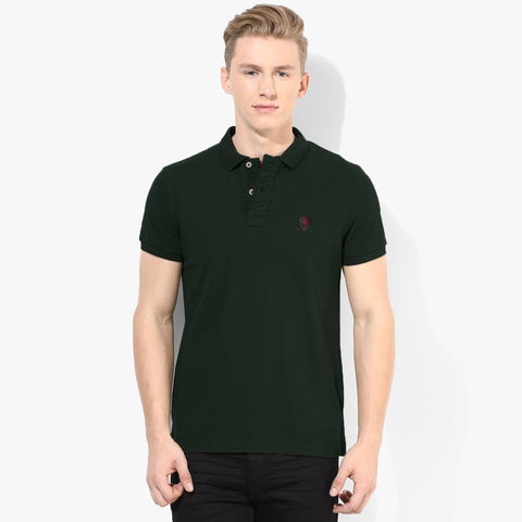 Fat Face Polo For Men Cut Label-Dark Green-BE2315