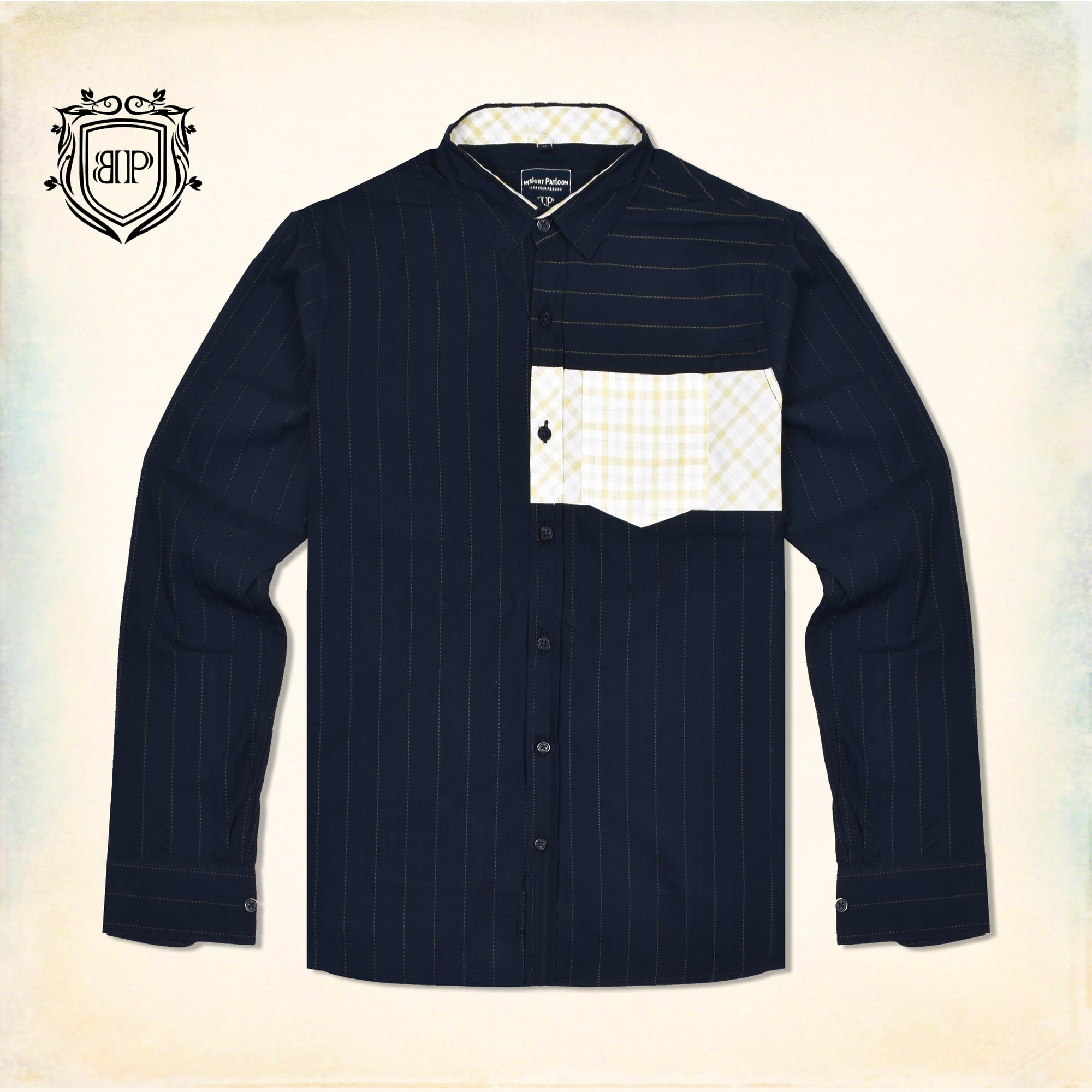 brandsego - Bushirt Patloon MADRES BLUE Casual Shirt For Men-NA1144