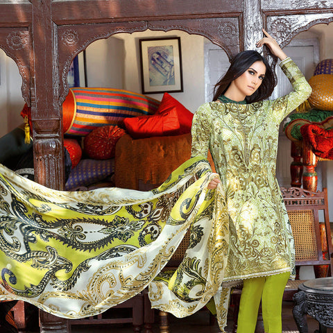 Gul Ahmed Unstitched 3 Piece Ladies Suit-ULS06