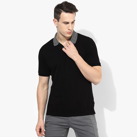 George Polo Shirt For Men -Black-BE1032