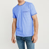 Casual Outfitters Crew Neck Single Jersey Tee Shirt For Men-Blue Melange-NA8569
