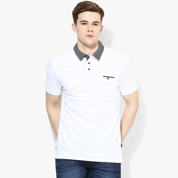 Men's Cut Label George Stylish Polo Shirt -White -FF22