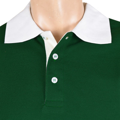 Chams Authentic P.Q Polo Shirt For Men-Dark Green-NA1004
