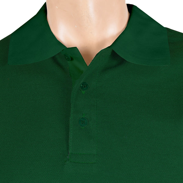 Chams Authentic P.Q Polo Shirt For Men-Dark Green-NA1048
