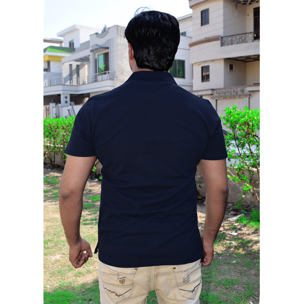 Chams Authentic P.Q Polo Shirt For Men-Dark Navy-NA1015