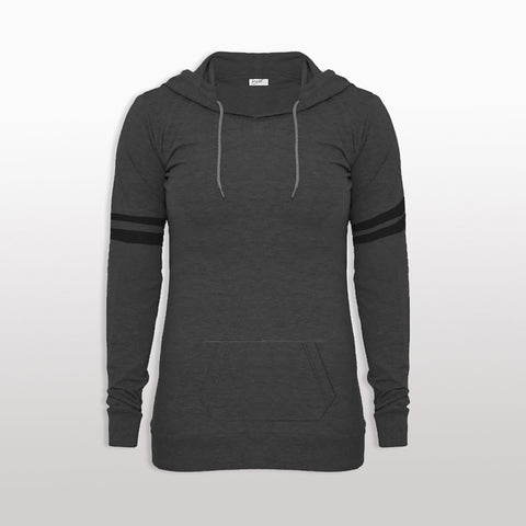 "Ladie's ""EXIST"" Stylish Pull Over Hoodie-BE426"
