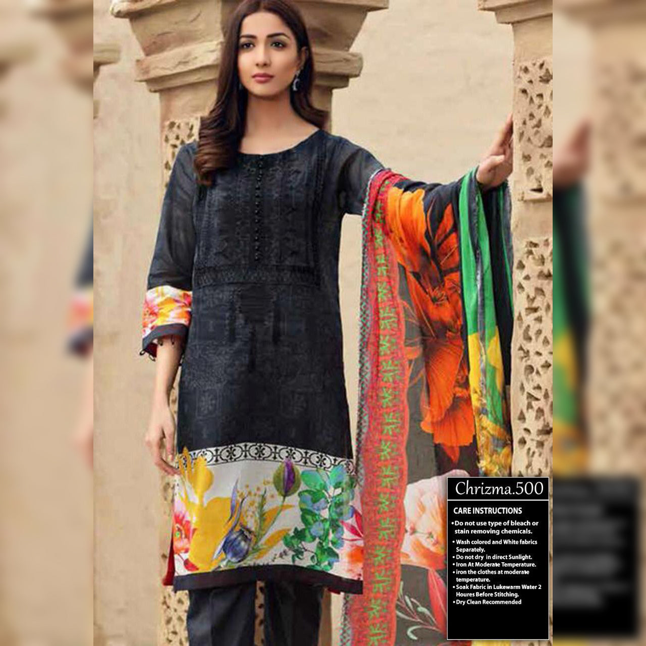Charizma Lawn Collection 3 Piece Un-stitch Suit For Ladies-NA8916
