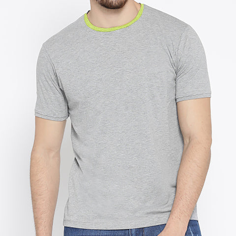 ChenOne-Single Jersey- T Shirt-For-Men-Light Gray Malange-BA00035