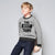 ChenOne Crew Neck Fleece Sweatshirt For Kids-Grey Melange-NA6625