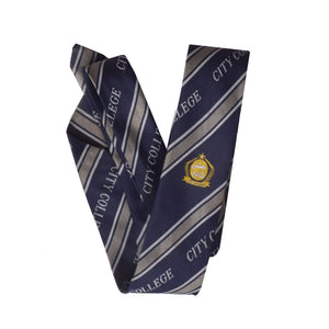 City Collage Silk Tie For Boys-NA1042